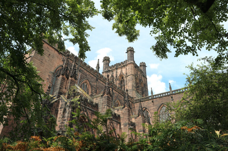 The magnificent Chester Cathedral in the sunshine